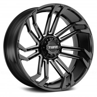 TUFF® - T21 Gloss Black with Milled Spokes