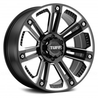 TUFF® - T22 Gloss Black with Milled Spokes and Stainless Steel Bolts