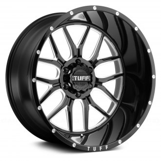 TUFF® - T23 Gloss Black with Milled Spokes and Dimples