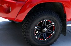 TUFF® - T01 Flat Black with Chrome Inserts on Toyota Tacoma