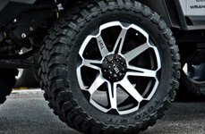 TUFF® - T05 Flat Black with Machined Face with TOYO Tires on Jeep Wrangler