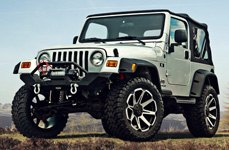TUFF® - T05 Flat Black with Machined Face on Jeep Wrangler