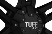 TUFF® - T01 Flat Black with Chrome Inserts Close-Up