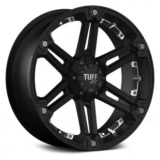 TUFF® - T01 Flat Black with Chrome Inserts