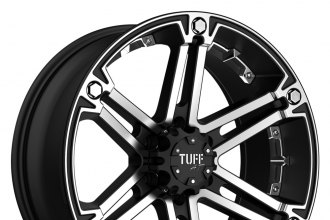 "TUFF® - T01 Flat Black with Machined Face (18"" x 9"", +25 Offset, 6x135 Bolt Pattern, 87mm Hub)"
