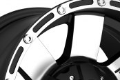 TUFF® - T02 Flat Black with Machined Face Close-Up