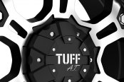 TUFF® - T03 Flat Black with Machined Face and Flange Close-Up