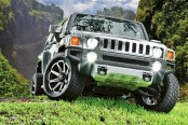 TUFF® - T05 Flat Black with Machined Face on Hummer H3