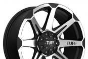TUFF® - T05 Flat Black with Machined Face