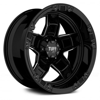 TUFF® - T10 Gloss Black with Chrome Accents