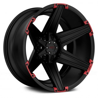 TUFF® - T12 Satin Black with Red Inserts