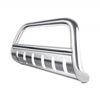 "Tuff-Bar® - 3"" Polished Bull Bar with Brushed Skid Plate"