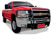 Image may not reflect your exact vehicle! Tuff-Bar® - Euro Style Black Grille Guard Installed