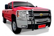 Image may not reflect your exact vehicle! Tuff-Bar® - Euro Style Polished Grille Guard Installed