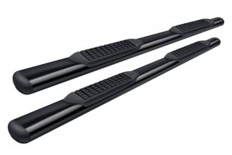"Tuff-Bar® 5-45653 - 4"" Black Powdercoated Oval Straight Tube Step Bars"