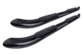 "Tuff-Bar® - 5"" Black Powdercoat Oval Bent Tube Step Bars with 30 Degree Bend"