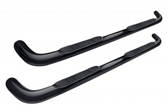 "Tuff-Bar® 1-5992 - 3"" Cab Length Black Powdercoat Round Bent Tube Step Bars"