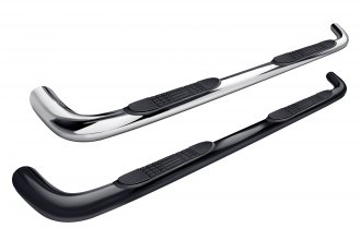 "Image may not reflect your exact vehicle! Tuff-Bar® - 3"" Cab Length Round Bent Tube Step Bars"