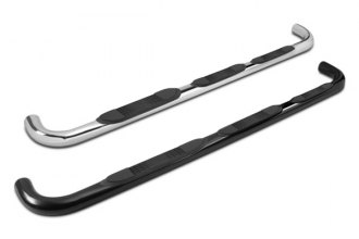 "Tuff-Bar® - 3"" Wheel-to-Wheel Black Powdercoated Round Tube Step Bars"