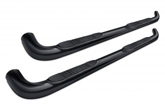 "Tuff-Bar® 5-5591 - 4"" Black Powdercoat Oval Bent Tube Side Bars"
