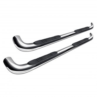 "Tuff-Bar® - 4"" Polished Stainless Steel Oval Bent Tube Side Bars"