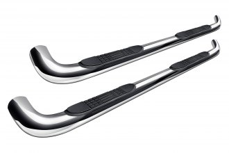 "Image may not reflect your exact vehicle! Tuff-Bar® - 4"" Polished Oval Bent Side Bars"