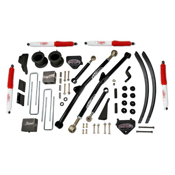 Tuff Country® - Front and Rear Long-Travel Suspension Lift Kit