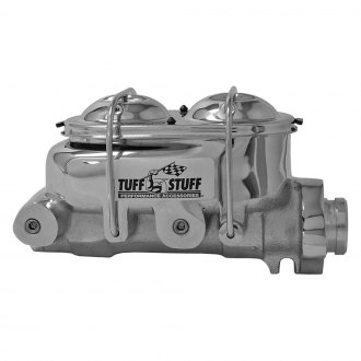 "Tuff Stuff Performance® - 1"" Chrome Dual Cast Iron Reservoir Brake Master Cylinder"