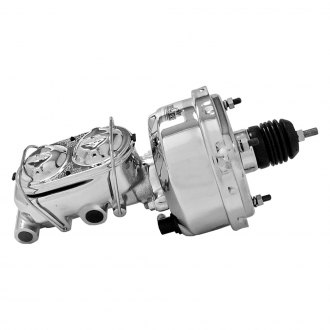 "Tuff Stuff Performance® - 1 1/8"" Bore Single Diaphragm Chrome Master Cylinder and Brake Booster Combo"