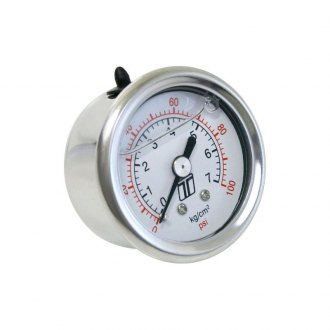 Turbosmart® - IWhite Face Liquid Filled Fuel Pressure Regulator Gauge