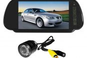 "Tview® - Rear View Mirror with 7"" Monitor and Back Up Camera"