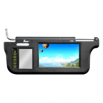Tview® - Driver and Passenger Side 7 Black Sunvisor Monitor