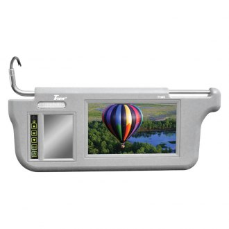 Tview® - Driver and Passenger Side 7 Gray Sunvisor Monitor