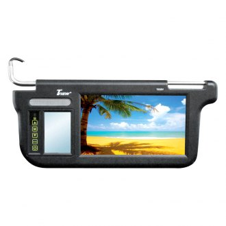 Tview® - Driver and Passenger Side 9 Black Sunvisor Monitor
