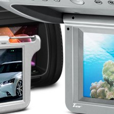 "Tview® - 7"" Black LCD Headrest Monitor"