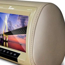 "Tview® - 9"" Beige LCD Headrest Monitor"