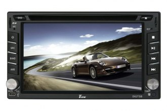 "Tview® - Double DIN DVD/VCD/CD/MP3/MP4 Receiver with 6.2"" Screen, Bluetooth and Steering Wheel Control"