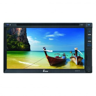 "Tview® - Double DIN DVD/CD/AM/FM In-Dash Receiver with 6.95"" Screen and Built-In Bluetooth"