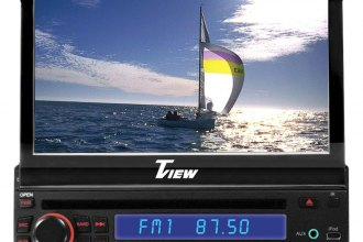 "Tview® - Single DIN In-Dash DVD/VCD/CD/MP3/MP4 Receiver with 7"" Touchscreen Monitor"