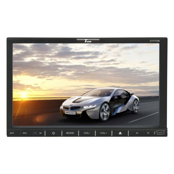 "Tview® - Double DIN DVD/CD/AM/FM/MP3/WMA/MP4/AVI Receiver with Motorized 7"" Touchscreen Display and Built-In Bluetooth"