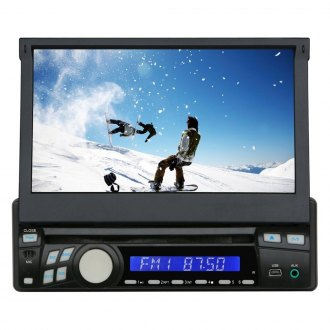 "Tview® - Single DIN DVD/CD/AM/FM/MP3 In-Dash Receiver with 7"" Touchscreen and Built-In Bluetooth"