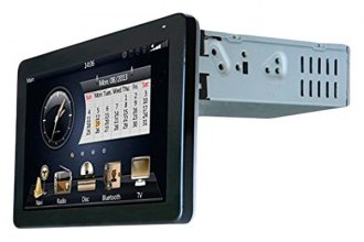 "Tview® - Single DIN In-Dash DVD/AM/FM Receiver with 9.3"" Touchscreen, Built-In GPS and Bluetooth"