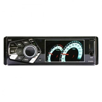 "Tview® - Single DIN DVD/CD/AM/FM/MP3/WMA/AVI Receiver with 3.5"" Display and Built-In Bluetooth"