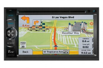 "Tview® - Double DIN DVD/VCD/MP3/MP4/WMA/AVI Touchscreen Receiver with 6.2"" Screen Touchscreen"