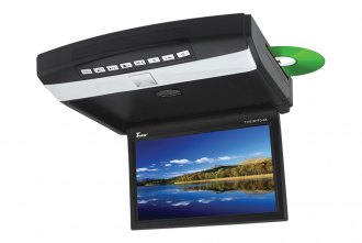Tview® - 10.2 Black Flip Down Monitor with Built-In DVD Player