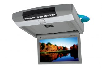 Tview® - 10.2 Gray Flip Down Monitor with Built-In DVD Player
