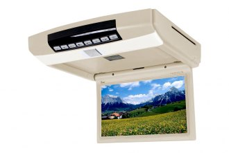 Tview® - 10.2 Tan Flip Down Monitor with Built-In DVD Player