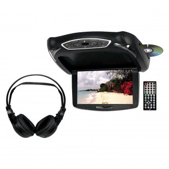 "Tview® - 10.2"" Flip Down TFT Monitor with Built-In DVD Player and 3 Housing Options"