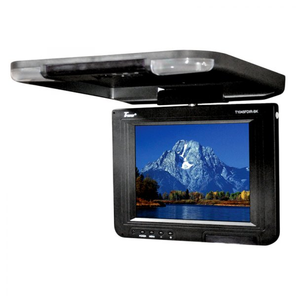 "Tview® - 10.4"" Black Flip Down LCD Monitor"