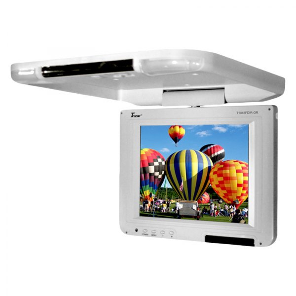 "Tview® - 10.4"" Gray Flip Down LCD Monitor"